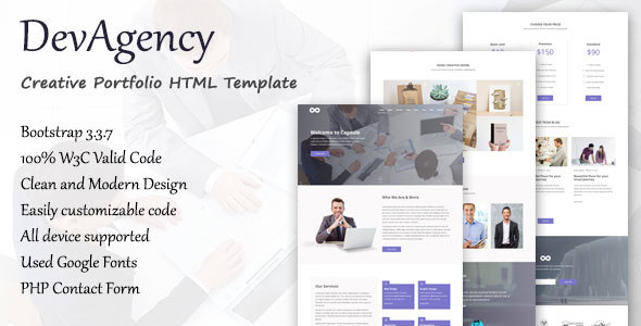DevAgency – Multipurpose Responsive Template