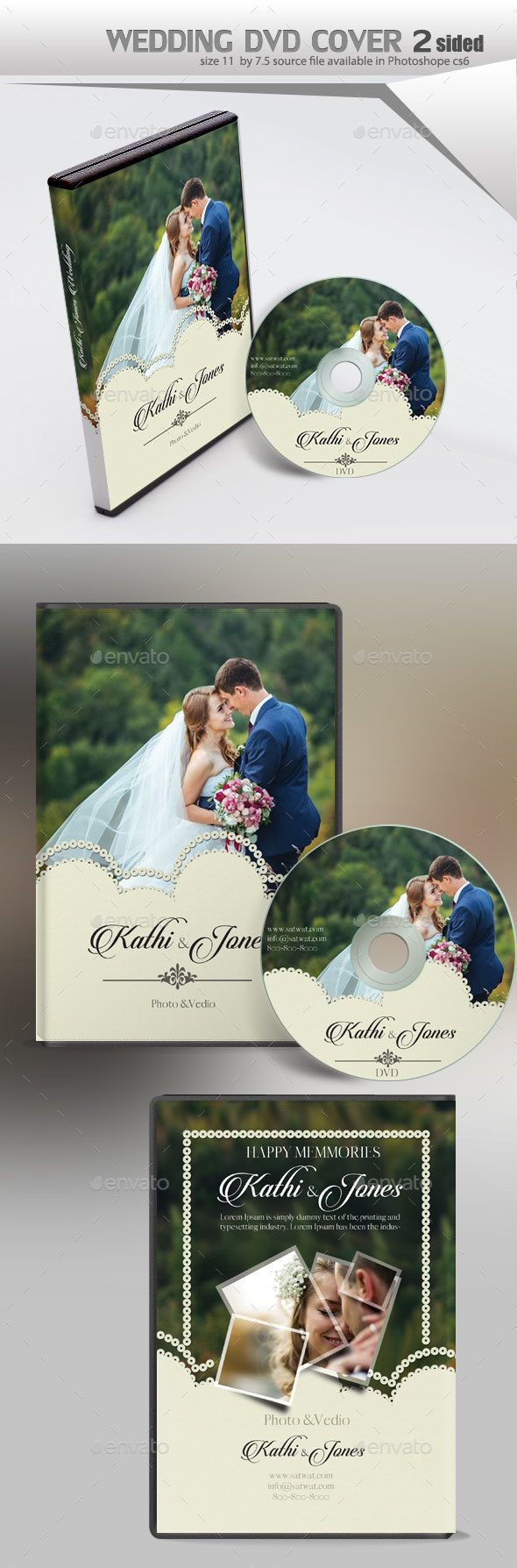 Wedding Dvd - CD & DVD Artwork Print Templates