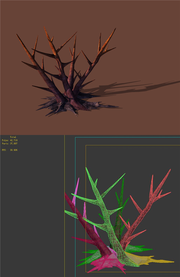 Game model - dead branches - 3DOcean Item for Sale