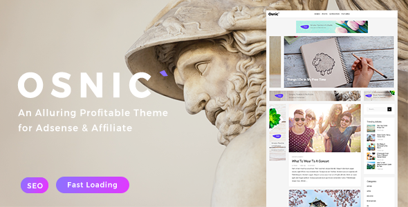 Osnic - AD Optimized Blog/Magazine Theme for Adsense & Affiliate