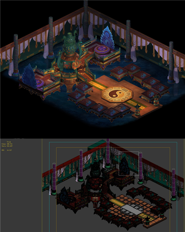 Game model - alchemy room - 3DOcean Item for Sale