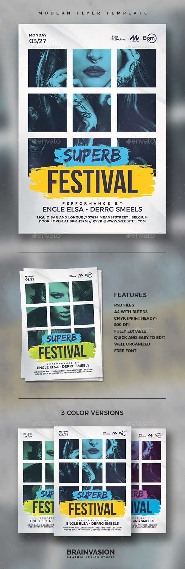 Modern Flyer Template Vol.05 - Concerts Events