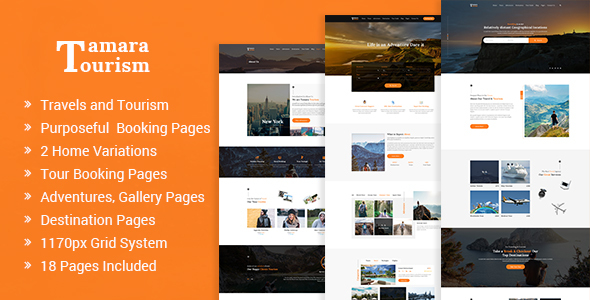 Tamara – Travel Agency and Tourism PSD Template