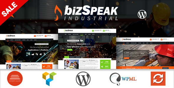 BizSpeak - Responsive Industrial WP Theme - Business Corporate