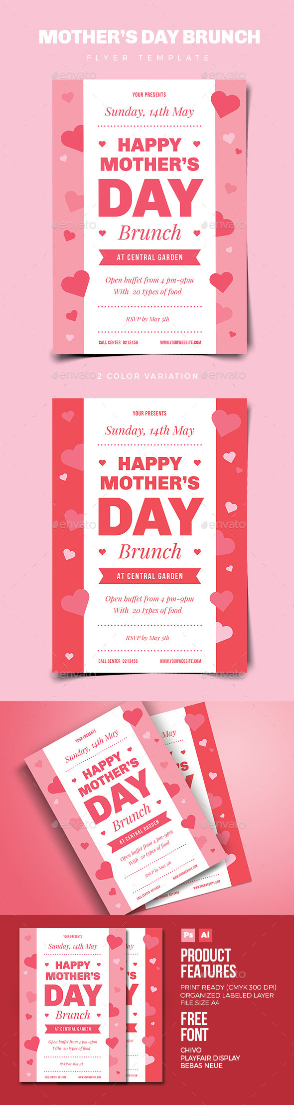 Mothers Day Brunch Flyer - Events Flyers