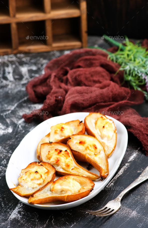 baked pears - Stock Photo - Images