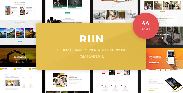 Run - Powerful Multi-Purpose PSD Template - Corporate PSD Templates