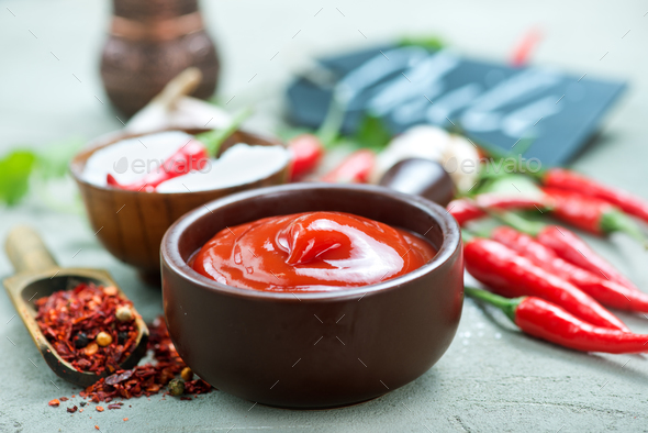 chilli sauce - Stock Photo - Images