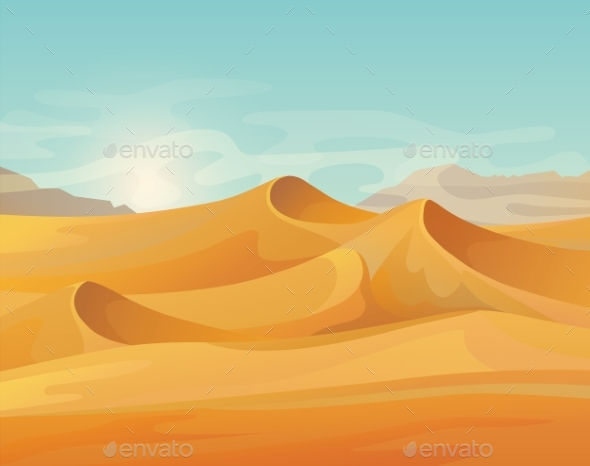 Outdoor Panorama on Desert Landscape - Landscapes Nature