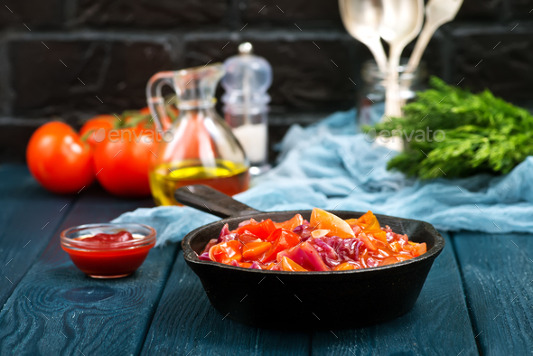 vegetables with sauce - Stock Photo - Images