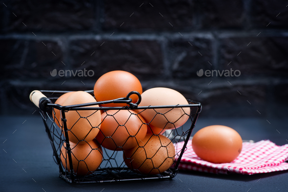 raw chicken eggs - Stock Photo - Images