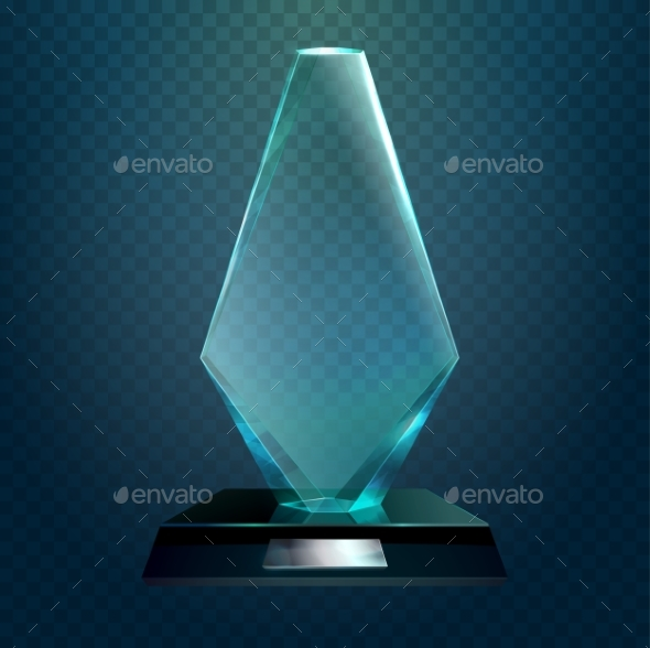 Transparent Rhombus Cup or Trophy Prize - Miscellaneous Vectors