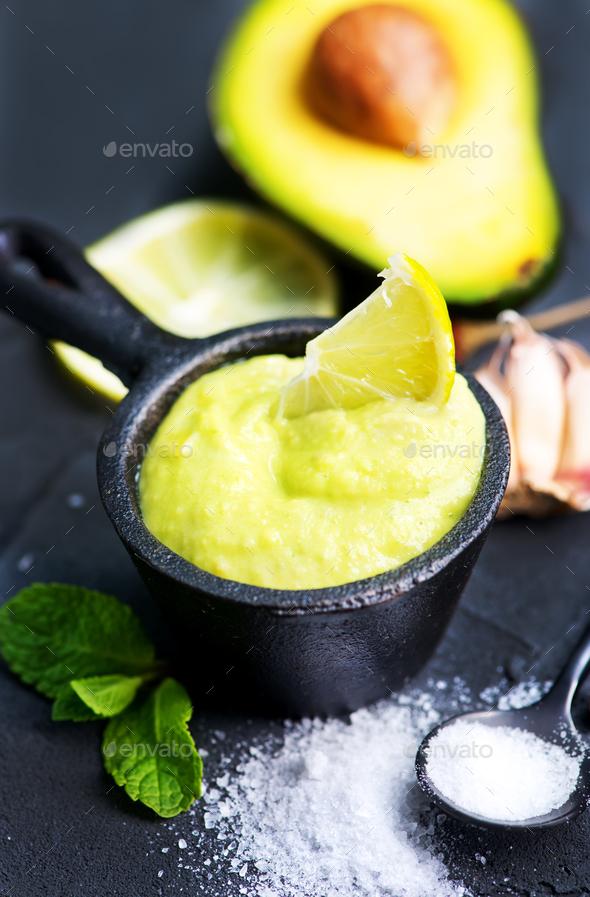 avocado sauce - Stock Photo - Images