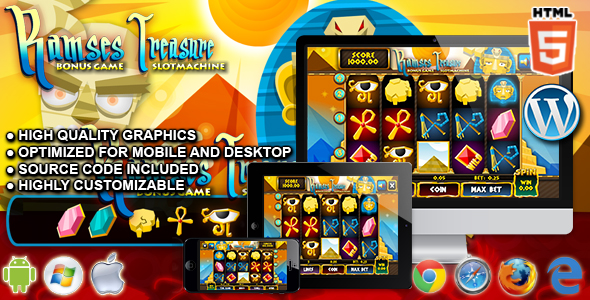 Slot Ramses - HTML5 Casino Game - CodeCanyon Item for Sale