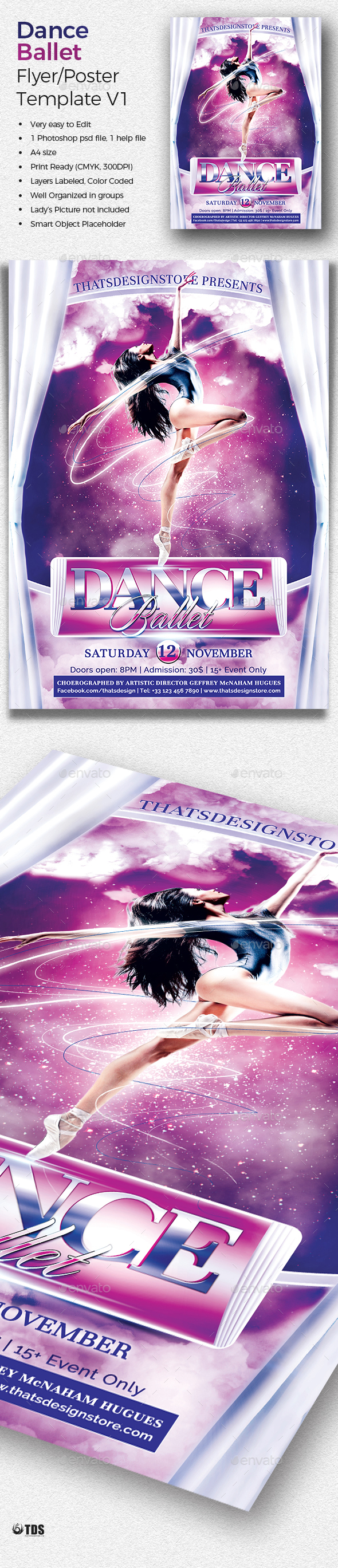 Dance Ballet Flyer Template V1 - Concerts Events