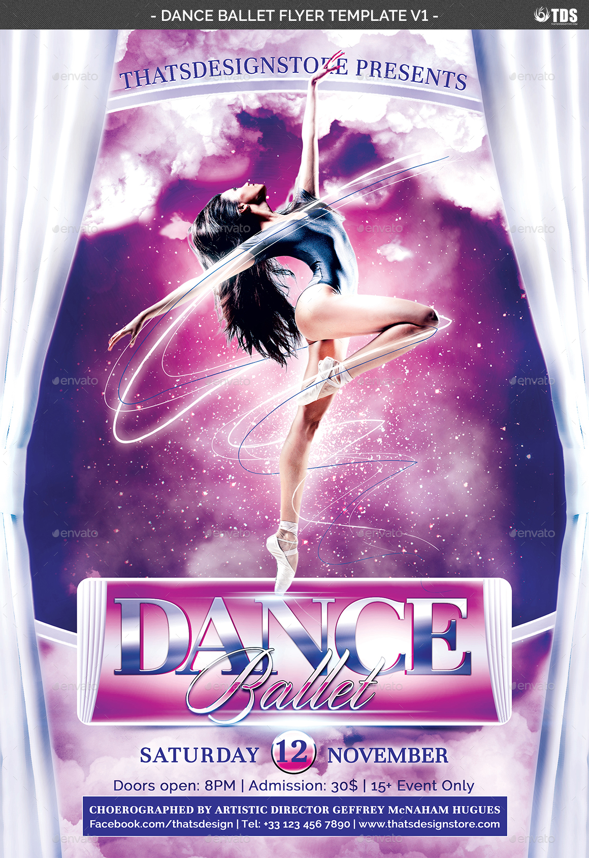 dance ballet flyer template v1 by lou606 graphicriver
