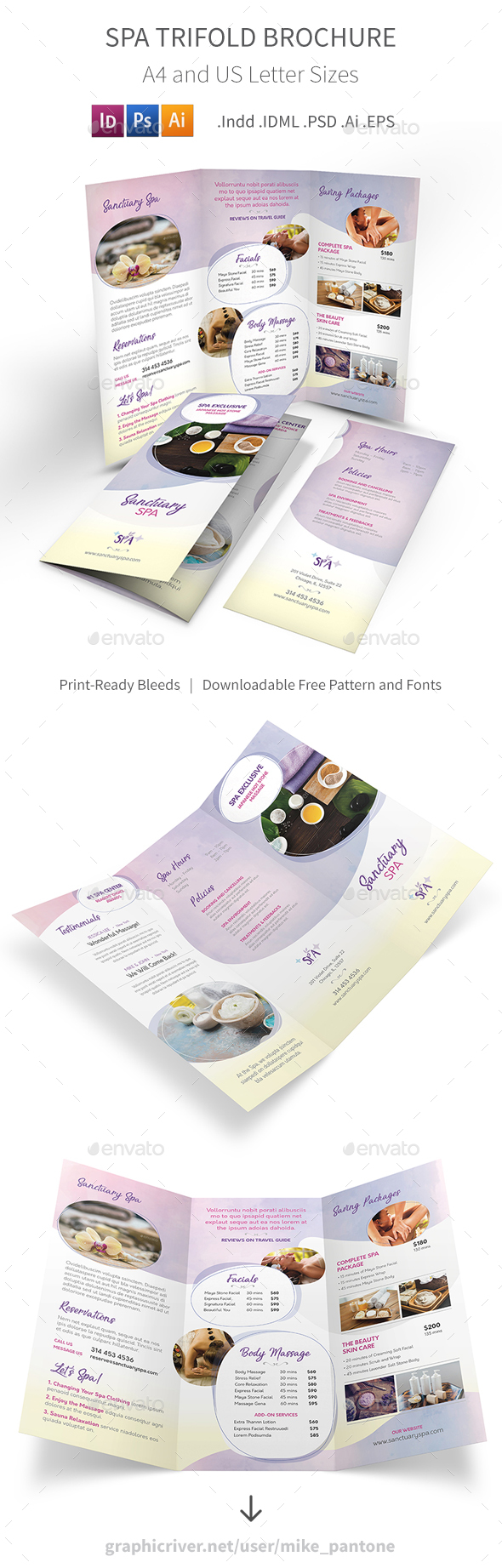 Spa Trifold Brochure 7 - Informational Brochures