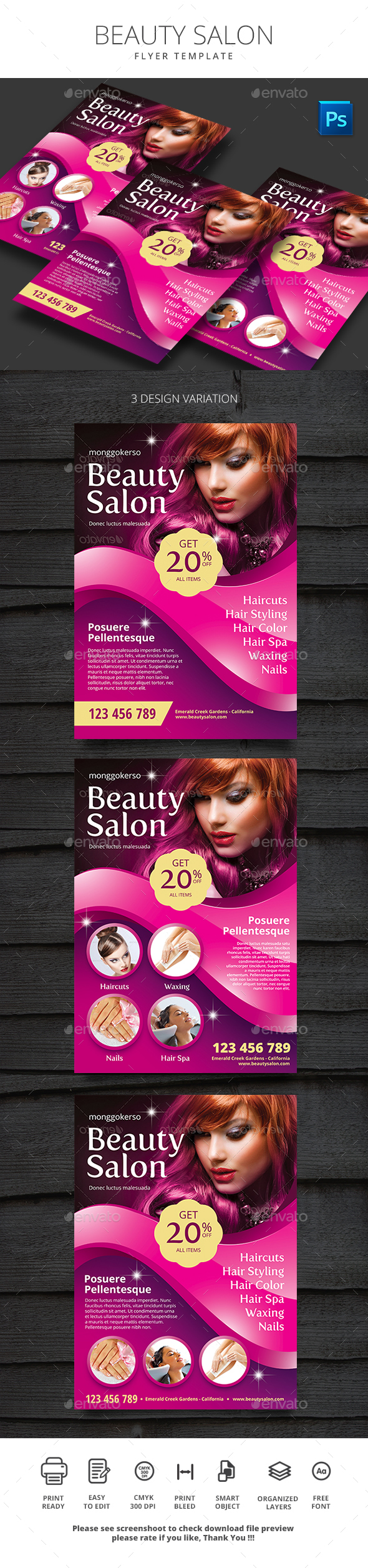 Beauty Salon - Flyers Print Templates