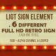 Retro Light Sign Elements - VideoHive Item for Sale