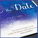 Watercolor Save the Date Postcard - GraphicRiver Item for Sale