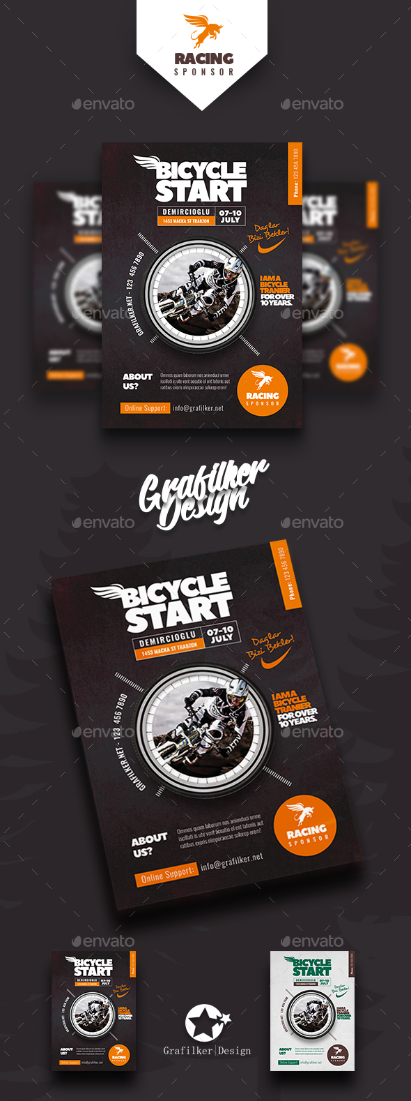 Bicycle Racing Flyer Templates - Corporate Flyers