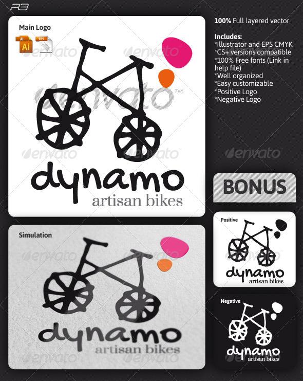Dynamo Bikes Logo - Objects Logo Templates