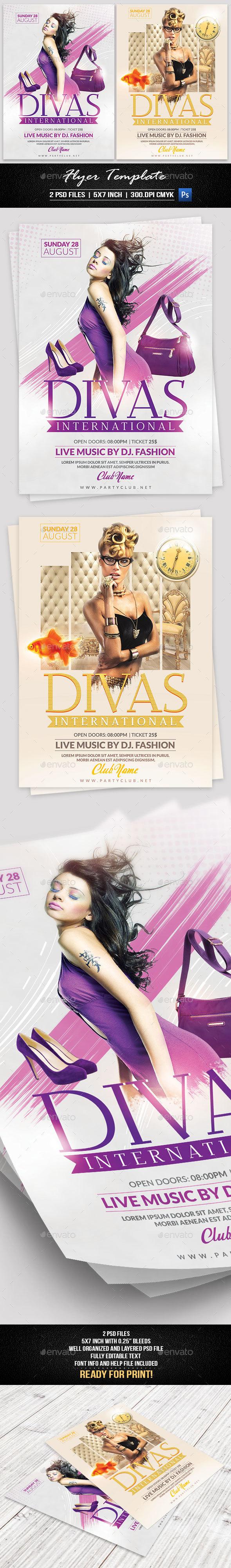 Divas International Flyer Template - Flyers Print Templates