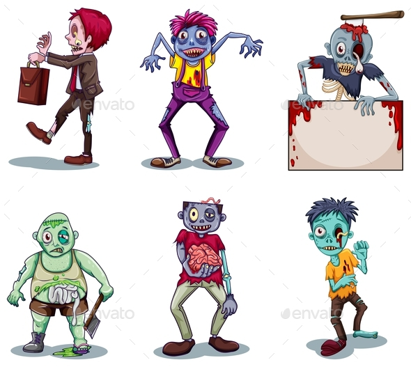 Scary Zombies - People Characters
