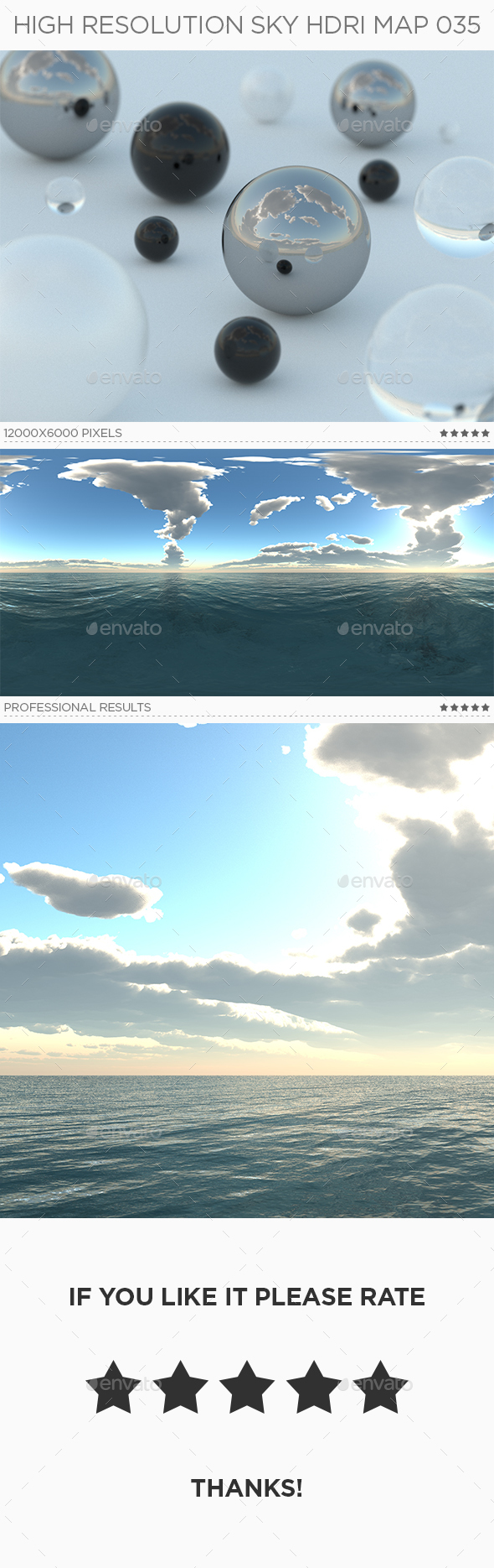 High Resolution Sky HDRi Map 035 - 3DOcean Item for Sale
