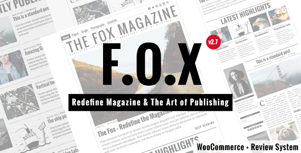 The Fox - Modern Magazine WordPress Theme - Personal Blog / Magazine