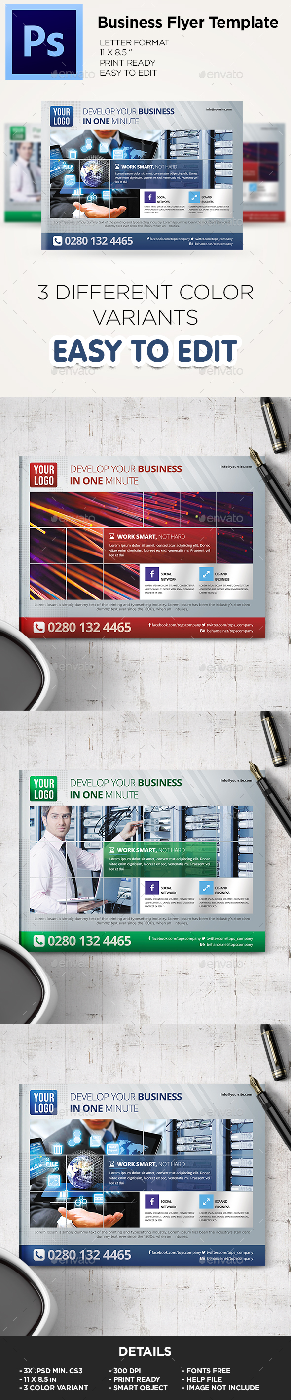 Business Flyer Template / Coorporate Flyer - Flyers Print Templates