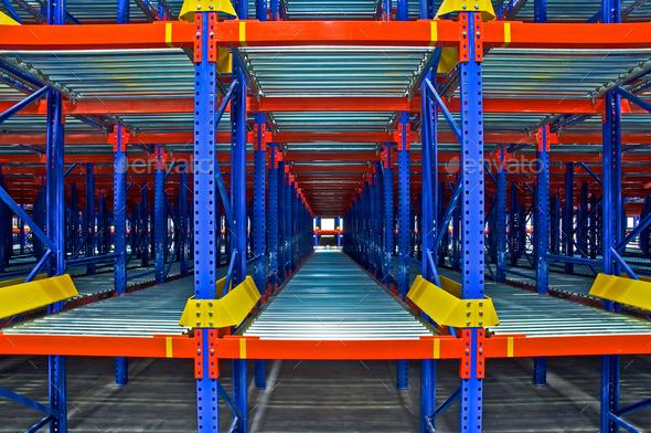 Warehouse Shelving Rack System - Stock Photo - Images