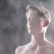 a Man Loses His Clothes Due To a Sudden Shock Wave with a Lot of Dust and Smoke