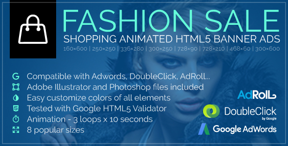 Fashion Sale - Shopping Animated Google HTML5 Banner Ads - CodeCanyon Item for Sale