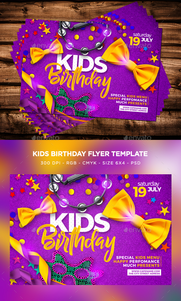 Kids Birthday Flyer - Events Flyers