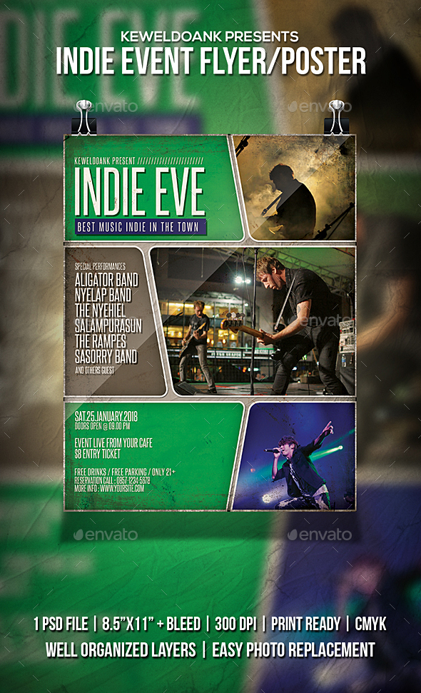 Indie Event Flyer / Poster - Events Flyers