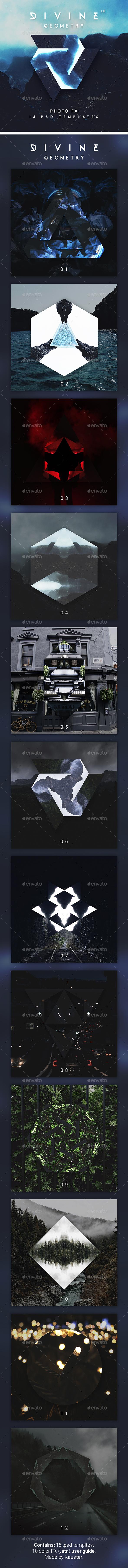 Divine Geometry - Photoshop Photo Template - Photo Templates Graphics