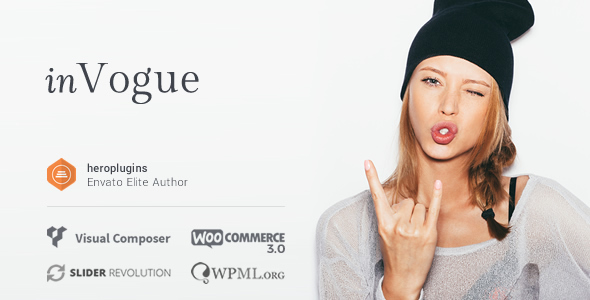 inVogue - WordPress Fashion Shopping Theme - WooCommerce eCommerce