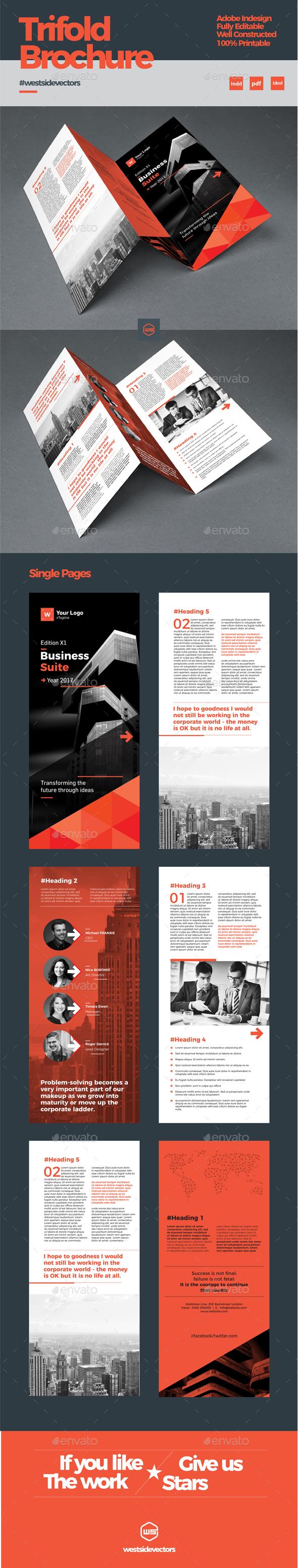 Trifold Brochure - Print Templates