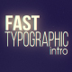Fast Typographic Intro - VideoHive Item for Sale