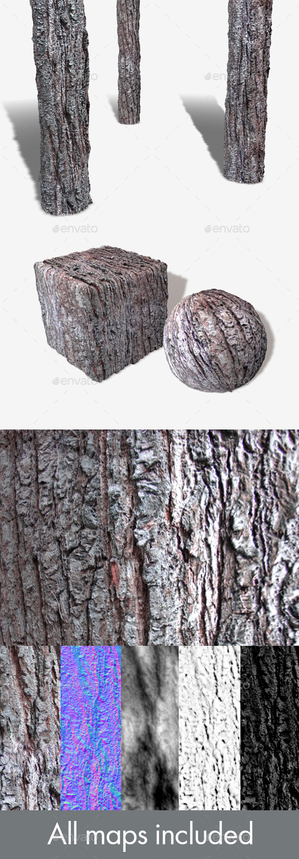 Crusty Bark Seamless Texture - 3DOcean Item for Sale