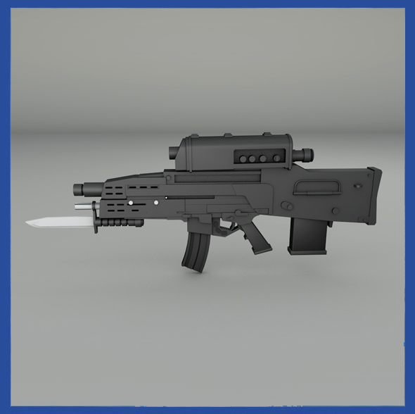 XM-29 Combat Weapon - 3DOcean Item for Sale