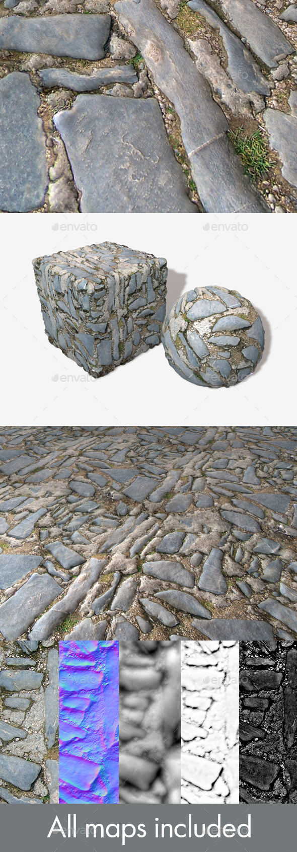 Uneven Stone Ground Seamless Texture - 3DOcean Item for Sale