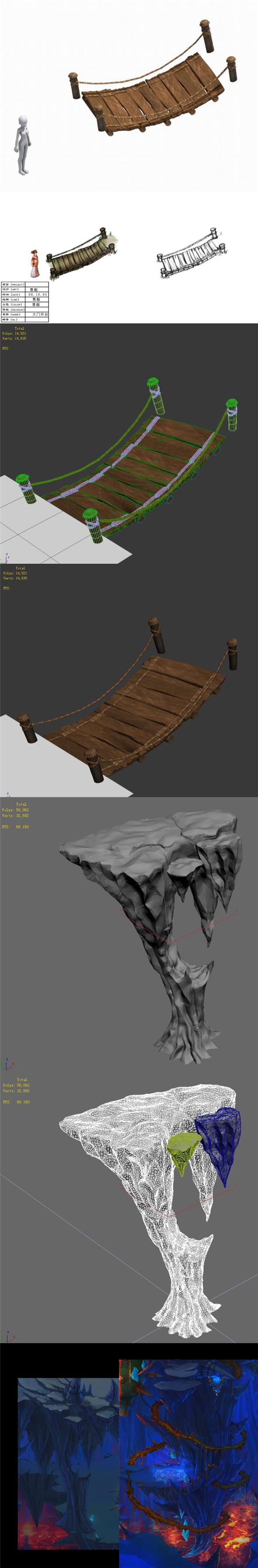Wood - suspension bridge - 3DOcean Item for Sale