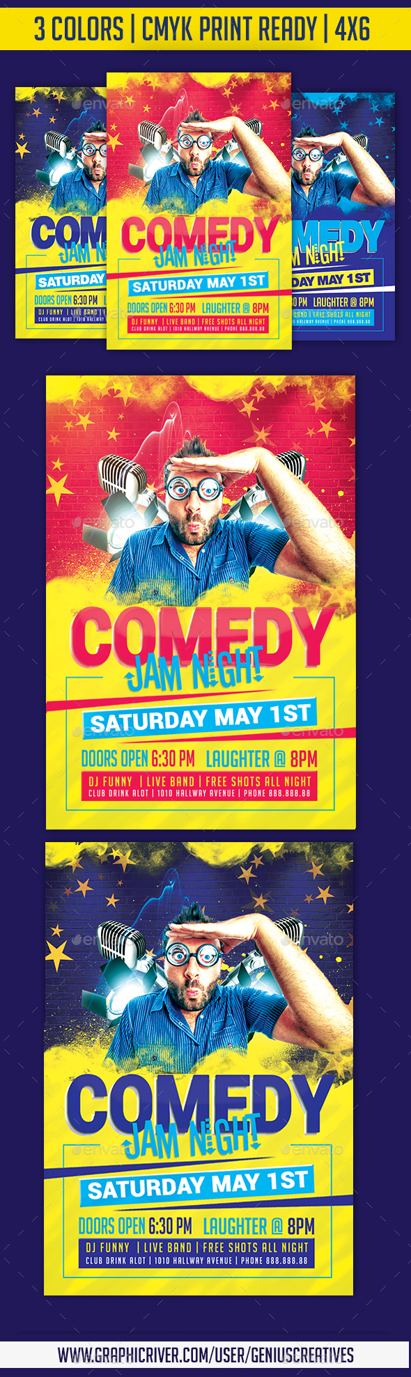 Comedy Jam Open Mic Template - Events Flyers