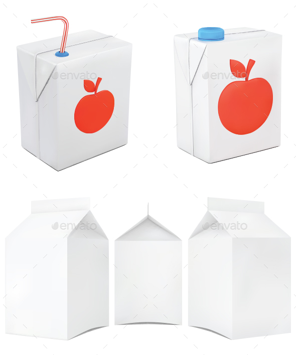 Paper Juice Product Container - Food Objects