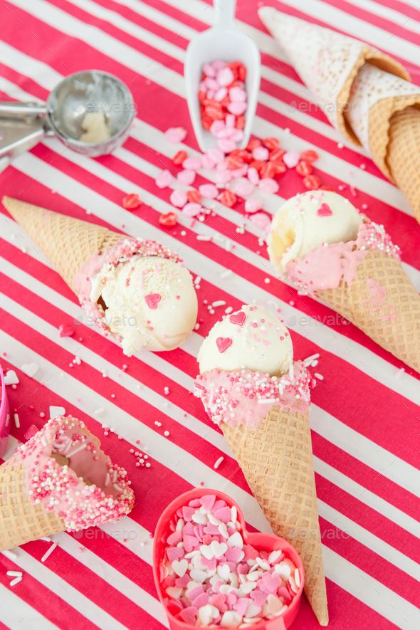 Ice cream cones - Stock Photo - Images