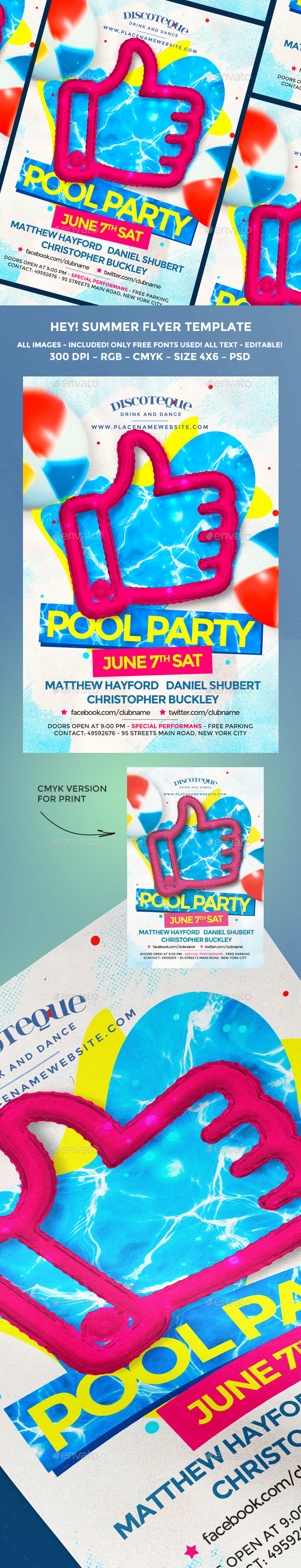 Summer Pool Party - Holidays Events