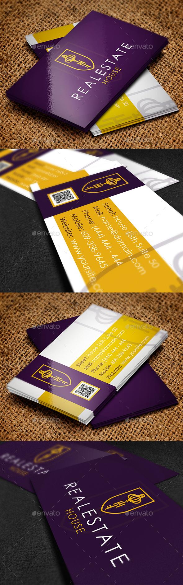 免费下载Real Estate Key Business Card 商务名片PSD模版下载