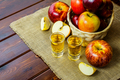 Apple brandy shots and red apples - PhotoDune Item for Sale